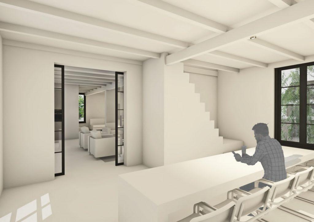 Hendrik-Ido-Ambacht verbouwing dijkwoning interieur